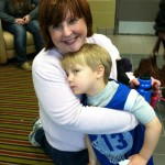 My Wife and Son after a Basket Ball Game