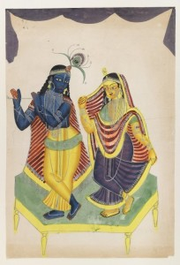 Krishna and Radha via Wikimedia Commons