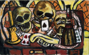 Still Life with Three Skulls by Beckmann, Max, 1884-1950  via Art in the Christian Tradition at Vanderbilt University