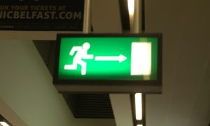 In Europe you must run to every exit.